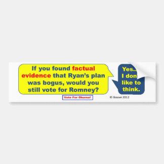 Bogus Ryan Plan Bumper Sticker