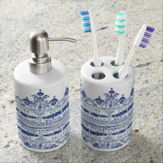 Bohem Blue Bathroom Set