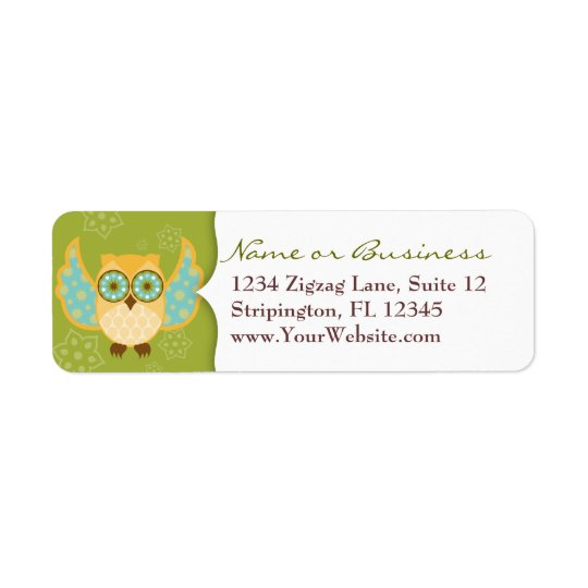 Boheme Owl OJ Return Address Label