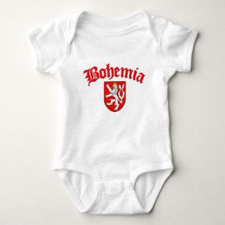 Bohemia Flag 1 (w/inscription) Baby Bodysuit