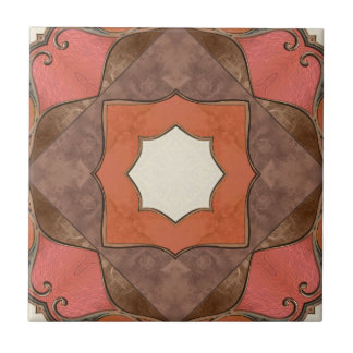 Bohemian Abstract Geometric Art Ceramic Tile