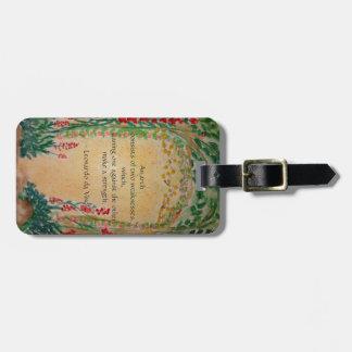 bohemian arch luggage tag