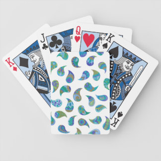 Bohemian Blue Paisley Playing Cards