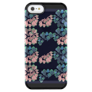 Bohemian Blush and Teal Buds Bouquets Clear iPhone SE/5/5s Case