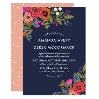 Bohemian Bouquet - Floral Wedding Invitation