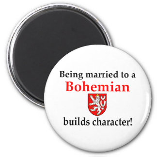 Bohemian Builds Character 6 Cm Round Magnet