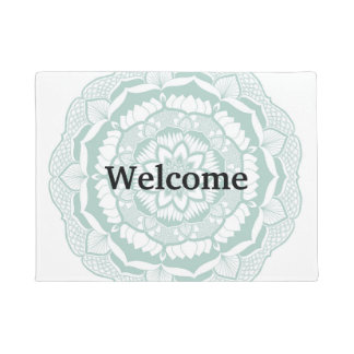 Bohemian Chic Henna Mehendi Mandala Pattern Doormat
