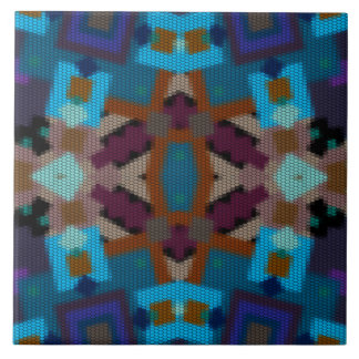 Bohemian colored ornament in ethno-style,aztec tile