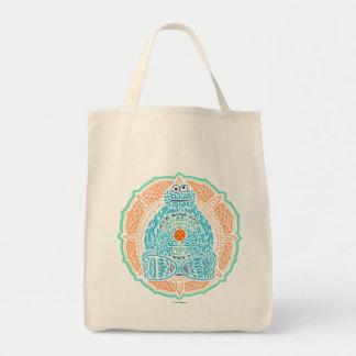 Bohemian Cookie Monster Grocery Tote Bag