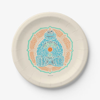 Bohemian Cookie Monster Paper Plate
