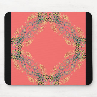 Bohemian-Coral_Gold(c)_Unisex Mouse Pad