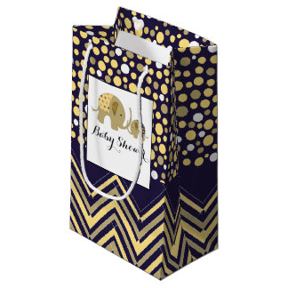 Bohemian Elephant and Chevron Baby Shower Small Gift Bag