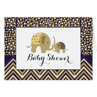 Bohemian Elephant & Chevron Baby Shower Invitation