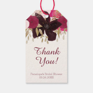 Bohemian Floral Bridal Shower Thank You Favor Tags