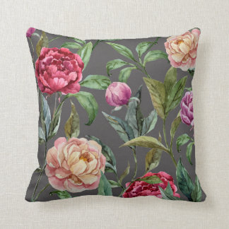 Bohemian Floral Cushion Throw Pillow