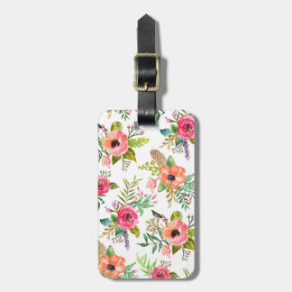 Bohemian Floral   Luggage Tag