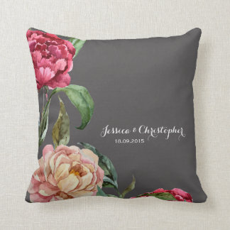 Bohemian Floral Personalised Cushion Throw Pillow