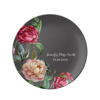 Bohemian Floral Personalised Decorative Plate Porcelain Plates
