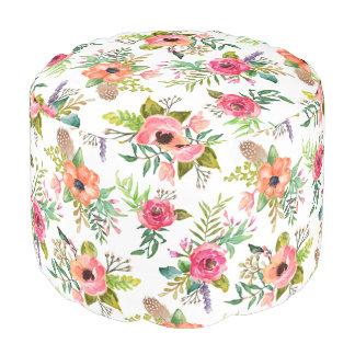 Bohemian Floral | Round Pouf