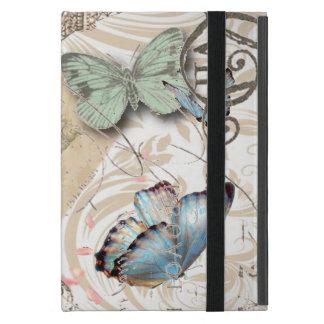 bohemian floral shabby chic parisian eiffel tower iPad mini cases