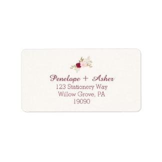 Bohemian Floral Wedding Address Labels