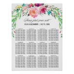 Bohemian Floral Wedding  Seating Chart