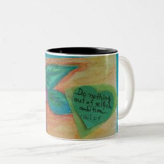 bohemian flower Two-Tone coffee mug