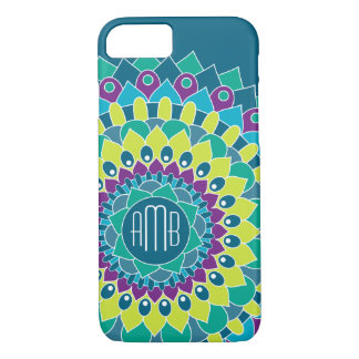 Bohemian Flower with Monograms iPhone 7 Case