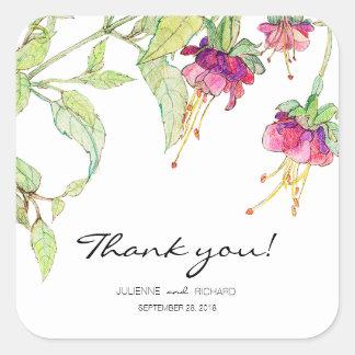 Bohemian Garden | Floral Wedding Favour Sticker