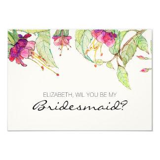 Bohemian Garden | will you be my bridesmaid? Card