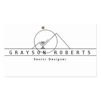 Bohemian Geometric Mountain Logo | Custom Business Pack Of Standard Business Cards