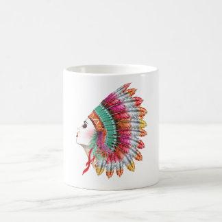 Bohemian Girl Fashion Illustration Coffee Mug