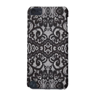 bohemian girly chic floral pattern black lace iPod touch (5th generation) covers