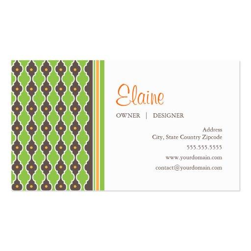 Bohemian Green Business Card