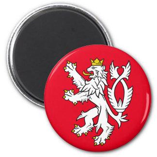 Bohemian heraldic lion 6 cm round magnet