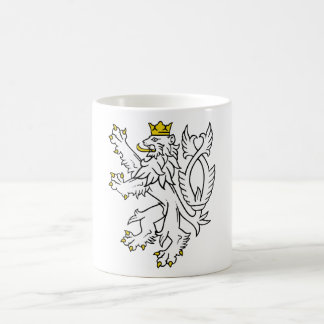 Bohemian heraldic lion coffee mug