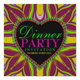 Bohemian Hippy Girls Night Dinner Party Invitation