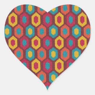 Bohemian Ikat Heart Sticker