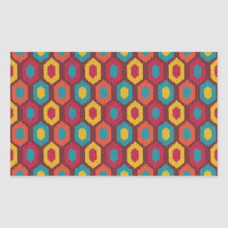 Bohemian Ikat Rectangular Sticker