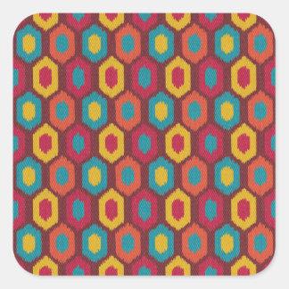 Bohemian Ikat Square Sticker