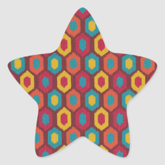 Bohemian Ikat Star Sticker