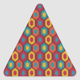 Bohemian Ikat Triangle Sticker
