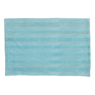 Bohemian Light Teal Stripes | Pillow Case