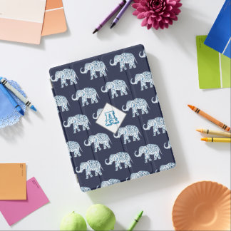 Bohemian Lotus Elephants iPad Cover
