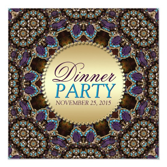 Bohemian Mosaic Dinner Party Invitations