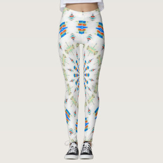Bohemian Native American Medicine Wheel Leggings