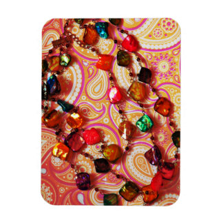 Bohemian Necklace Gemstone Paisley Photo Magnet