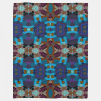 Bohemian ornament in ethno-style, Aztec Fleece Blanket