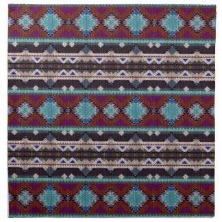 Bohemian ornament in ethno-style, Aztec Napkin