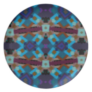 Bohemian ornament in ethno-style, Aztec Plate